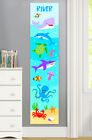 Ocean Animals Personalized Canvas Growth Chart for Kids