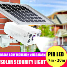 Solar Powered Security LED Light PIR Motion Garden Outdoor Lamp Dummy Camera