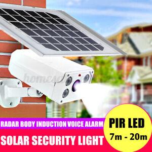 Solar Powered Security LED Light PIR Motion Garden Outdoor Lamp Dummy Camera