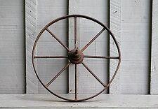 Old Vintage Antique Primitive Steel Spoke Wheelbarrow Cart Wheel Farm Decor
