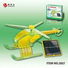 Fun Solar Helicopter Assembly Environment Science Education Kit Toy 10+ (Green)