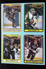1990-91 O PEE CHEE BOX BOTTOM PANEL - Wayne GRETZKY, Coffey, Casey, Mogilny