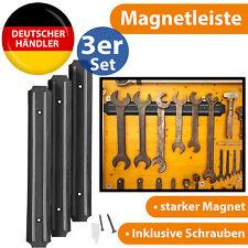 3x Magnetleiste Magnet Leiste Werkzeugleiste Werkzeughalter Werkzeug Wandhalter