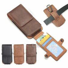 Cinturón de Cuero Ranura Para Tarjetas Funda Funda de paquetes bolsa para iPhone Samsung