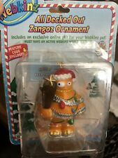 "Webkinz ""ALL DECKED OUT ZANGOZ""Ornament with unused code  NIP"