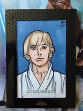 Star Wars Chrome Perspectives Sketch card by Justin Schillerberg Luke Skywalker