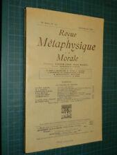 Revue de métaphysique et de morale 1949 n° 3-4