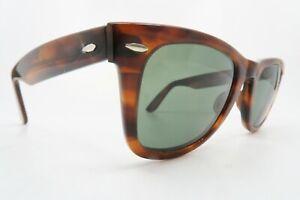 Vintage B&L Ray Ban Wayfarer sunglasses etched BL size 50-24 USA KILLER