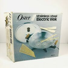 New Oster Stainless Steel Electric Wok Model 3800-01 Vintage Complete in Box