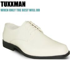New Men's Ivory Patent Lace Dress Formal Tuxedo shoes TUXXMAN