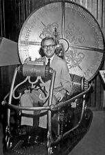 8x10 Print Ray Bradbury rides MGM Prop The Time Machine 1960 #RBTM