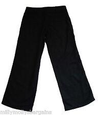 New Womens Black Linen NEXT Trousers Size 8 Petite LABEL FAULT