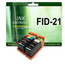 2 Ink Cartridges for DELL V313 V313W V515W P513W P713W V715W 21 22 23 24 BK C