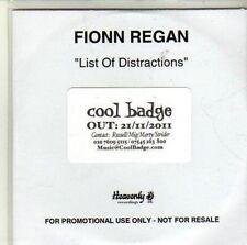(CI601) Fionn Regan, List of Distractions - 2011 DJ CD