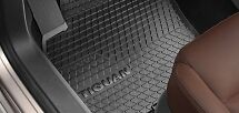 Genuine Volkswagen Tiguan Rubber Floor Mats Front Set of 2 2007-08/2016