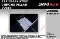GTG 2011-2015 Chevy Volt 6PC Chrome Stainless Steel Pillars Posts
