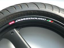 8 x APRILIA DORSODURO Wheel Rim Stickers Decals - 750 1200 900 smv sm750 factory