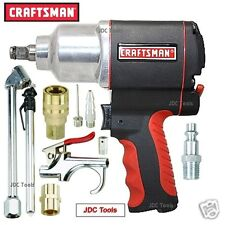 "Craftsman 1/2"" Drive Air Impact Wrench Pneumatic Gun w 9 pc Air set 16882  NEW"
