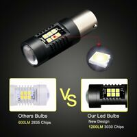 1Pair 3157 BA15S P21W LED BAY15D PY21W BAU15S Auto Lamp Bulbs Car Light LED