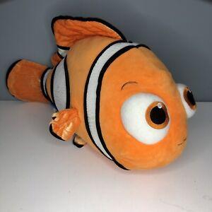 "Build A Bear Finding Nemo Disney  18"" Long Clown Fish Plush Stuffed Animal BABW"