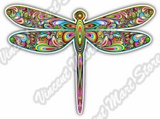 "Dragonfly Abstract Colorful Rainbow Car Bumper Vinyl Sticker Decal 5""X4"""