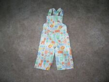 Vintage Baby Overalls by Be Mine Size 12 Months Multi Print Animals