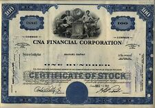 CNA Financial Corporation Stock Certificate