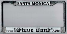 Rare Santa Monica California Steve Taub Porsche Audi license plate frame