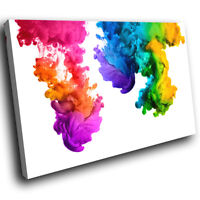 AB1155 pink rainbow   Modern Retro Abstract Canvas Wall Art Large Picture Prints