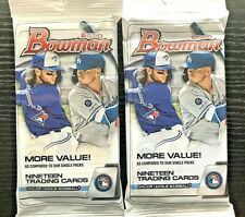 2020 Bowman Baseball Cello Fat Pack HOT LOT OF 2 PACKS fat cello chrome Topps
