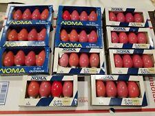 29 packs 121 Bulbs Noma C-9 1/4 Outdoor Bulbs Vintage Christmas lights **Used**