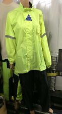NELSON RIGG MOTORCYCLE RAIN SUIT PROSTORM WP-8000  MENS X-LARGE XL BLACK HI-VIZ