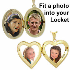 FIT A PHOTO INTO YOUR LOCKET WITH OUR LOCKET SIZE PHOTO with FREE P&P