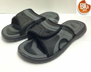 Mens Big Sizes Sandals Slides Men's Beach Sandals Black 13 14