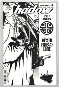 THE SHADOW: THE DEATH OF MARGO LANE #4 MATT WAGNER B & W VARIANT COVER - 1/10