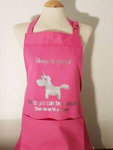 Personalised unicorn apron medium adult birthday / christmas present