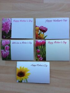 25 Happy Mother's Day Flower Small Florist Cards Bouquet Crafts School Projects