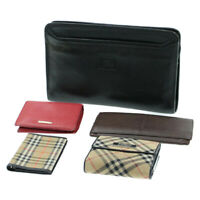 BURBERRY Nova Check Wallet Day Planner Cover Clutch Bag 5Set Auth ti202