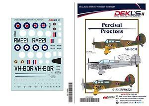 1/72 Decals - Percival Proctors - DEKL's II