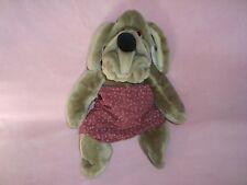 "Wrinkles Dog Ganzbros Puppet 1981 Plush 16"" #1468607 wearing under pants"