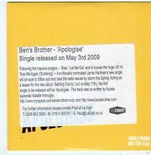 (FI206) Ben's Brother, Apologise - 2009 DJ CD