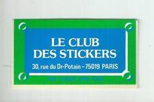 Autocollant sticker le club des sticker 1970