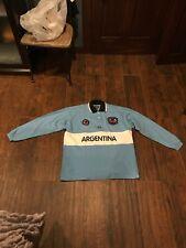 La Martina Argentina flag Polo Shirt Long Sleeve White Men Size XL
