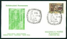 ITALY COVER 1976 CHRISTMAS SAINT ST. FRANCIS OF ASSISI ASIS dy10