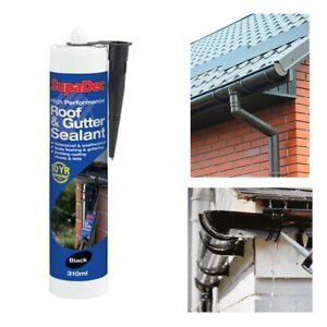 Roof and Gutter Sealant Black 300ml Waterproof Leak Repair Protection Adhesive