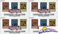 (4) Yugioh LEGENDARY COLLECTION 1 Factory Sealed Gameboard Edition Gods Cards