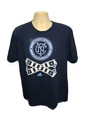 Adidas NYCFC New York City Football Club Adult Blue XL TShirt