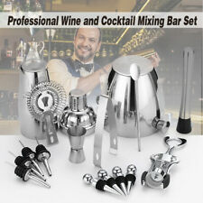 Cocktail Shaker Professional Drink Wine Stainless Steel Pourers Ice Bucket Home