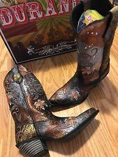 Durango Crush Flowered Metallic Cowgirl Western Boots RD3030 Women's 7 M