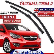 "26""-16"" Vauxhall Corsa D 2006 - 2015 Front Windscreen Flat Aero Wiper Blades Set"